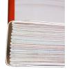 Fadenheftung: Falzlaken werden mit Faden verbunden; Hohlraum zum Rücken hin mit Leim aufgefüllt