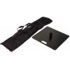 Tragetasche (inklusive) und Standplatte (optional) mit einer Größe von 49 x 49 cm und einem Gewicht von 15 kg