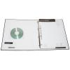 optional aufgeschweißte Visitenkarten- und CD-Tasche aus transparentem PVC