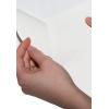 rückseitige Schlitzung des weißen Haftpapiers