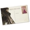 Beispiel: Individuelle Postkartenrückseite (Briefmarken sind im Lieferumfang nicht enthalten)