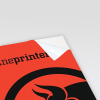 Neonpapier rot (Abb. ähnlich)