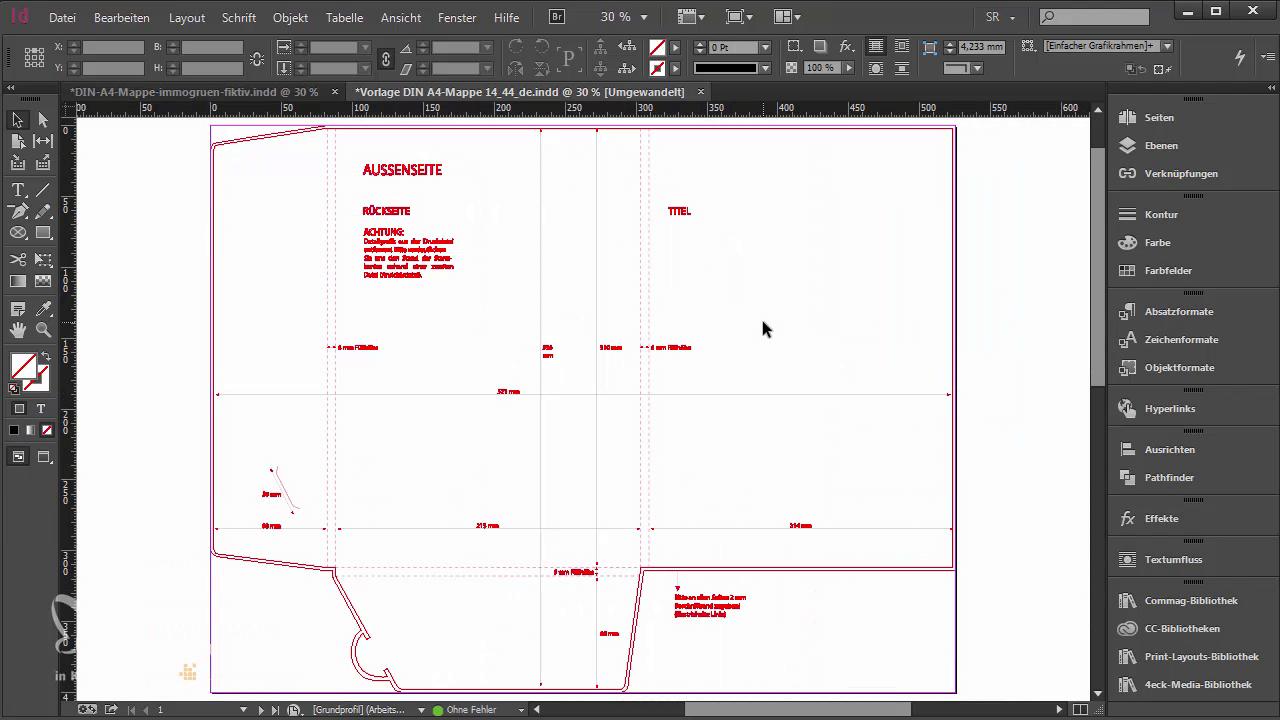 InDesign-Tutorial: A4-Mappe mit Relieflack gestalten