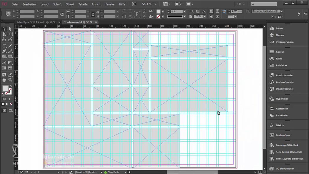 InDesign-Tutorial: Falzflyer - Designentwurf
