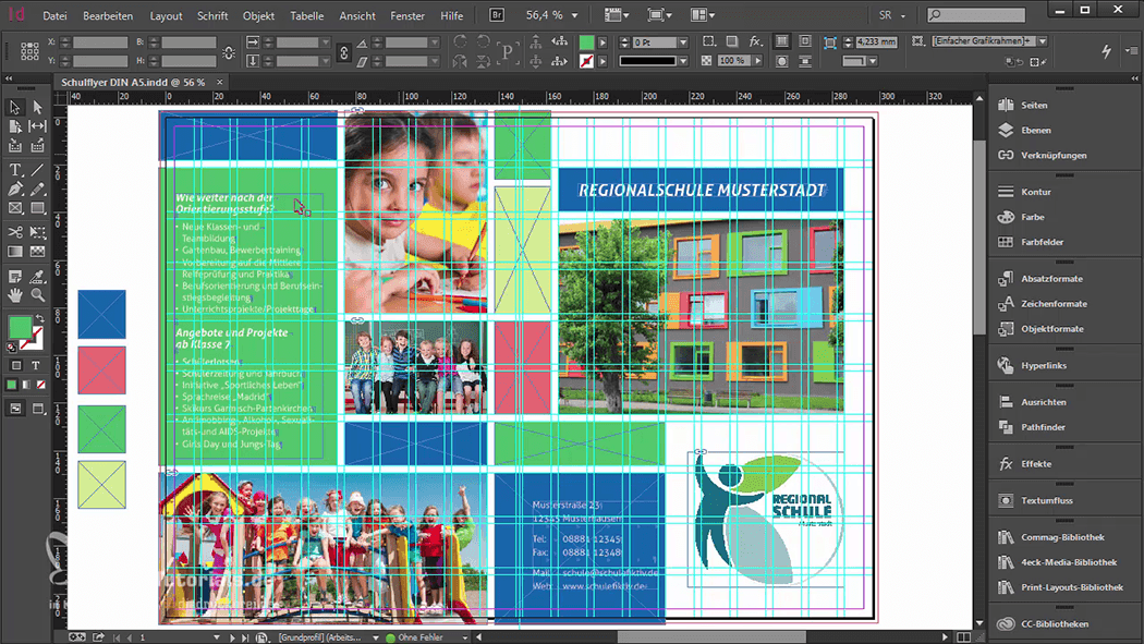InDesign-Tutorial: Falzflyer - Design mit Gestaltungsraster
