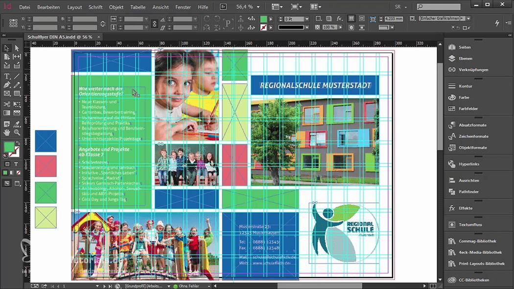 InDesign-Tutorial: Falzflyer - Design mit Gestaltungsraster