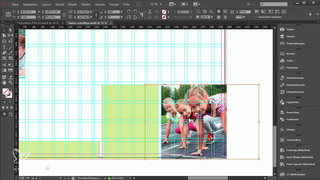 InDesign-Tutorial: Falzflyer - Bild nachher