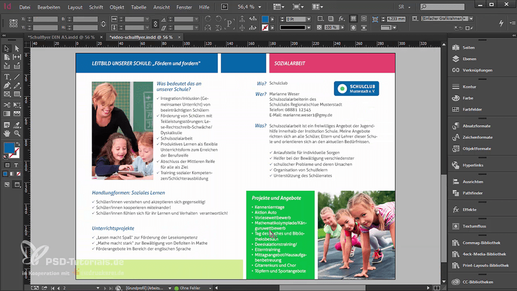 InDesign-Tutorial: Falzflyer - Design der Innenseiten