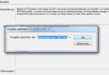 PDF Vorgaben InDesign