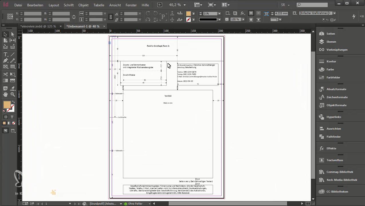 Briefpapier Design Trifft Din 5008 So Erstellen Sie Ihre