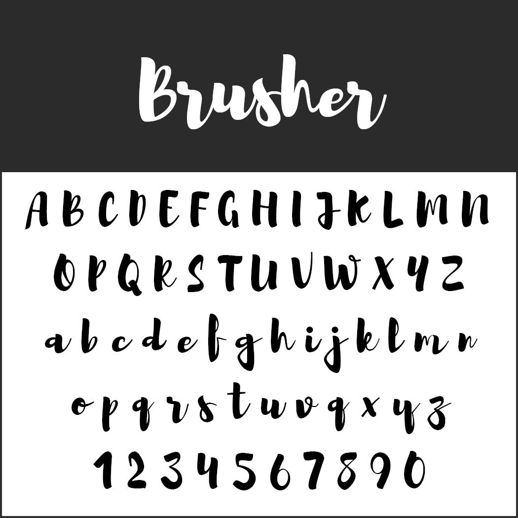 Brush Fonts - Free Font Brusher