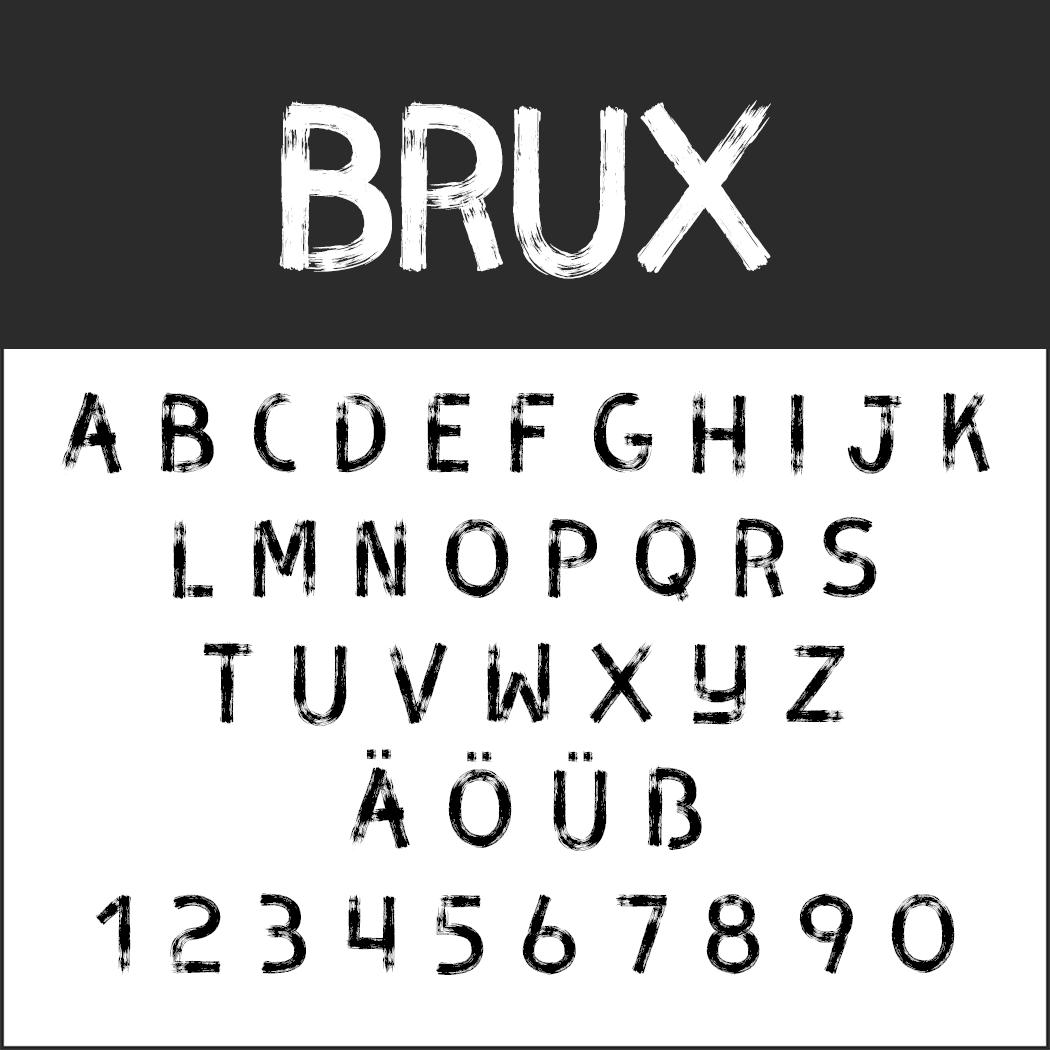 Brush Fonts - Free Font Brux