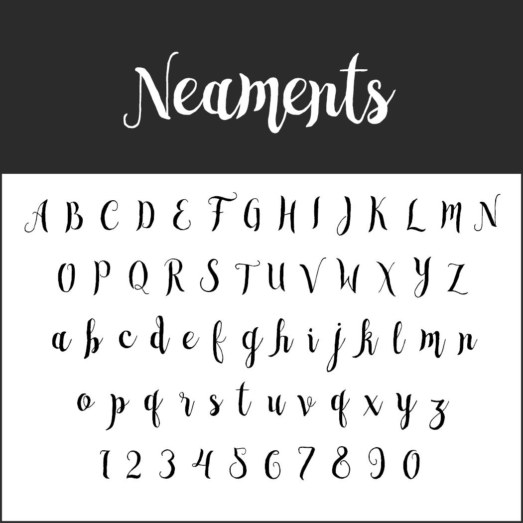 Brush Fonts - Free Font Neaments