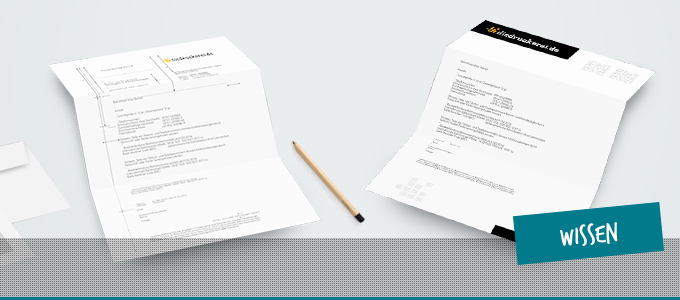 Vorlage für einen Geschäftsbrief nach DIN 5008