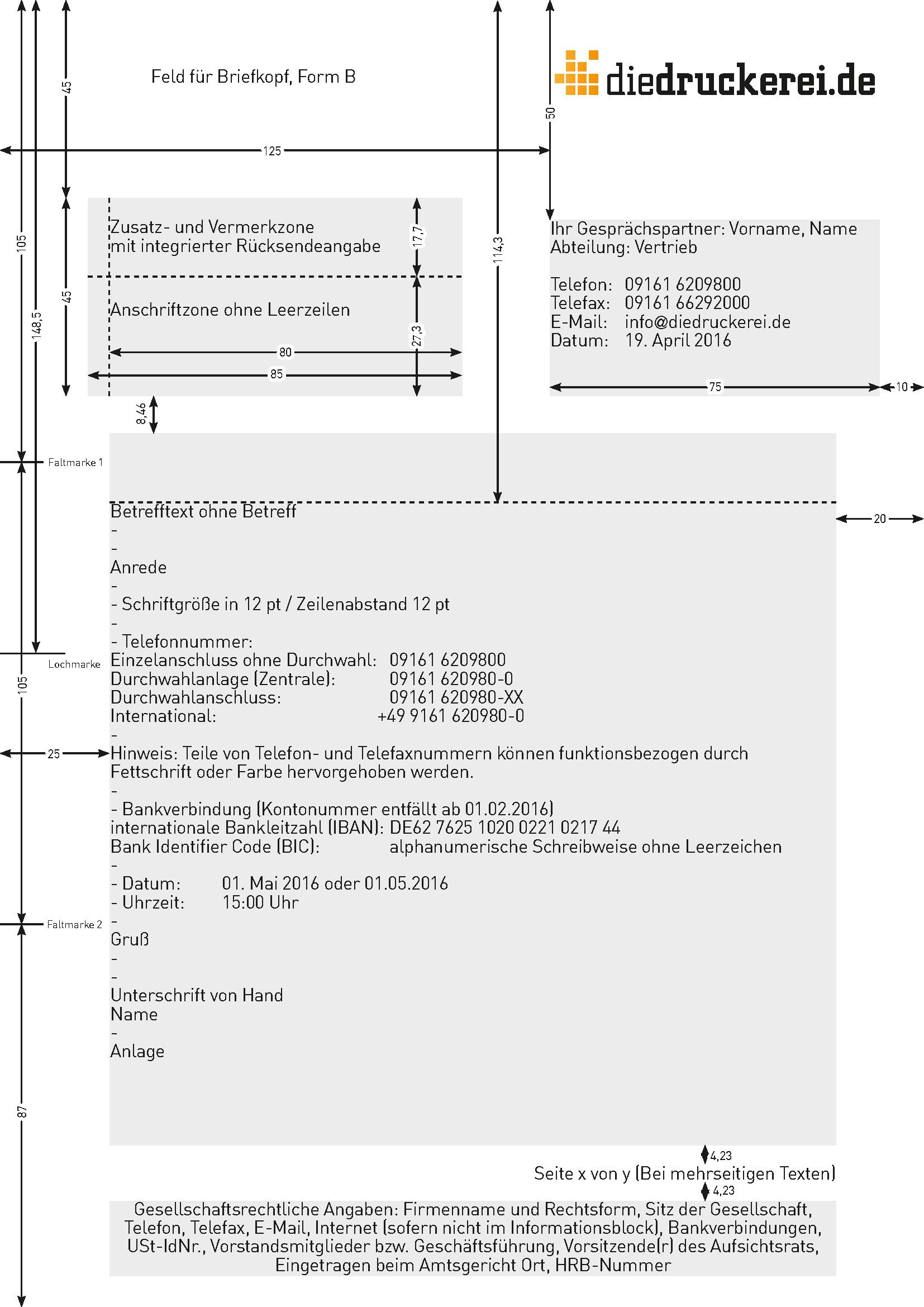 Aufbau Geschäftsbrief Nach Din 5008 Inkl Vorlage