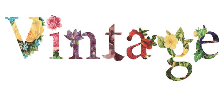 """Der Font """"VINTAGE FONT"""" von aleph eignet sich wunderbar für verspielte, bunte Designs."""