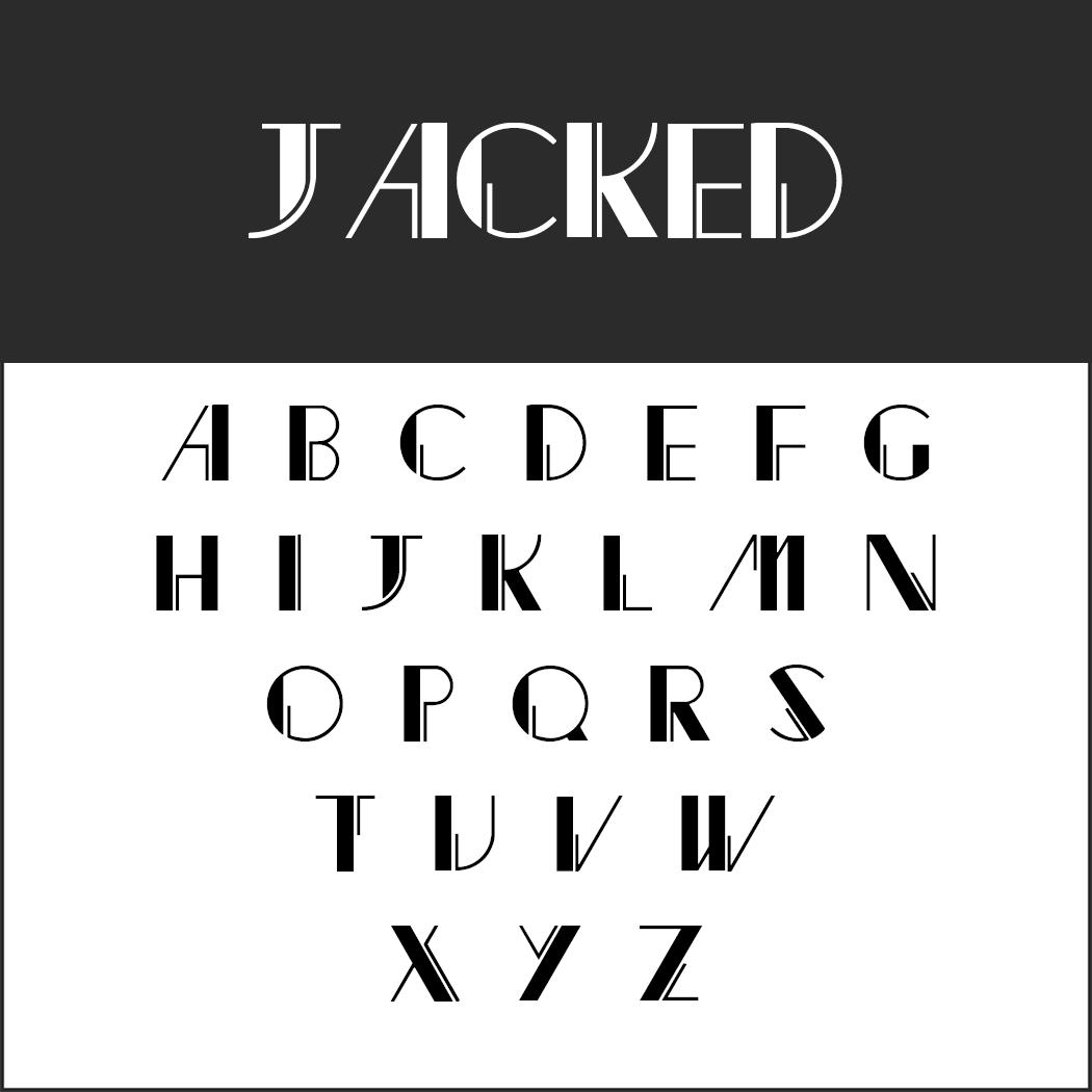 Vintage Fonts - 20er Jahre - Jacked