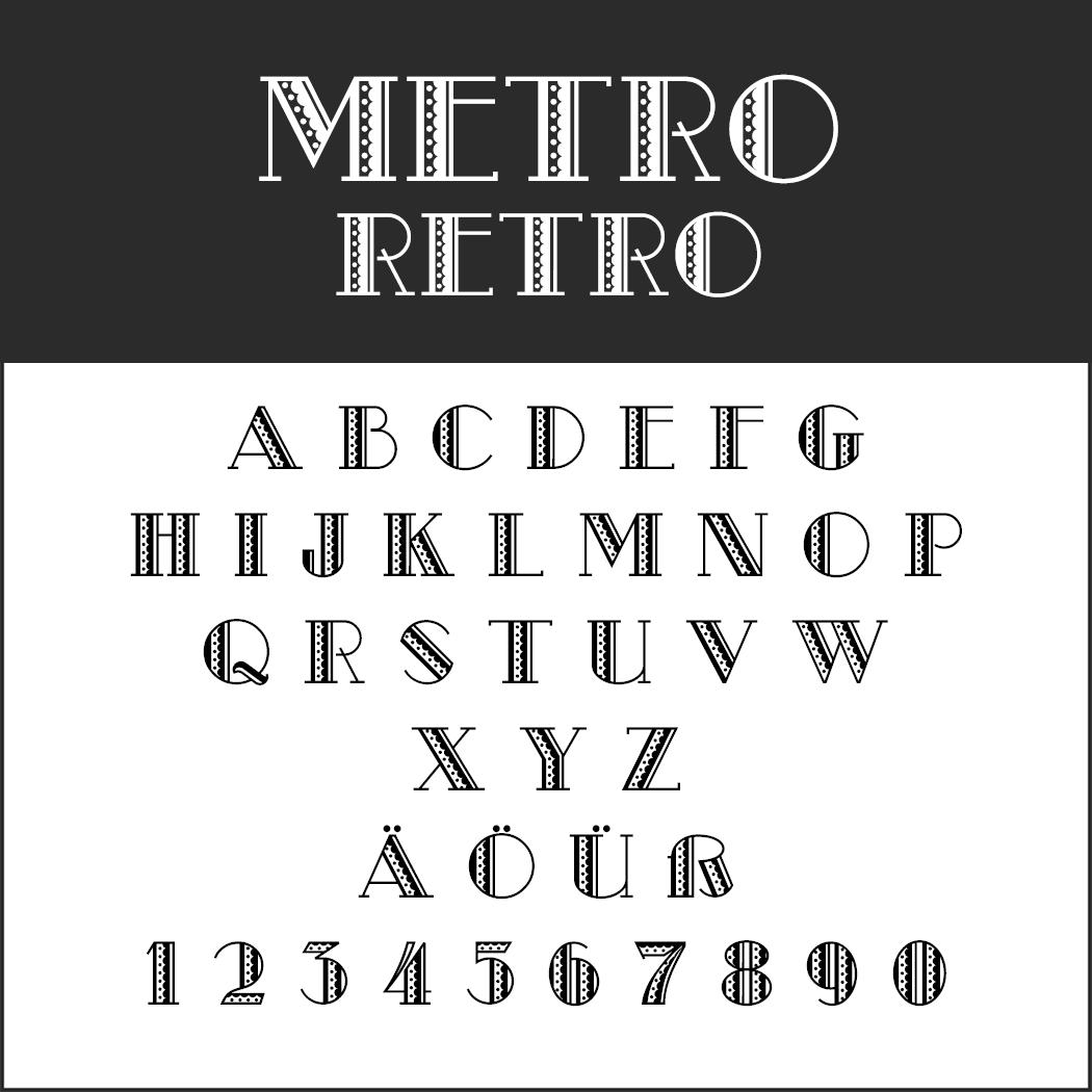 Vintage Fonts - 20er Jahre - Metro Retro