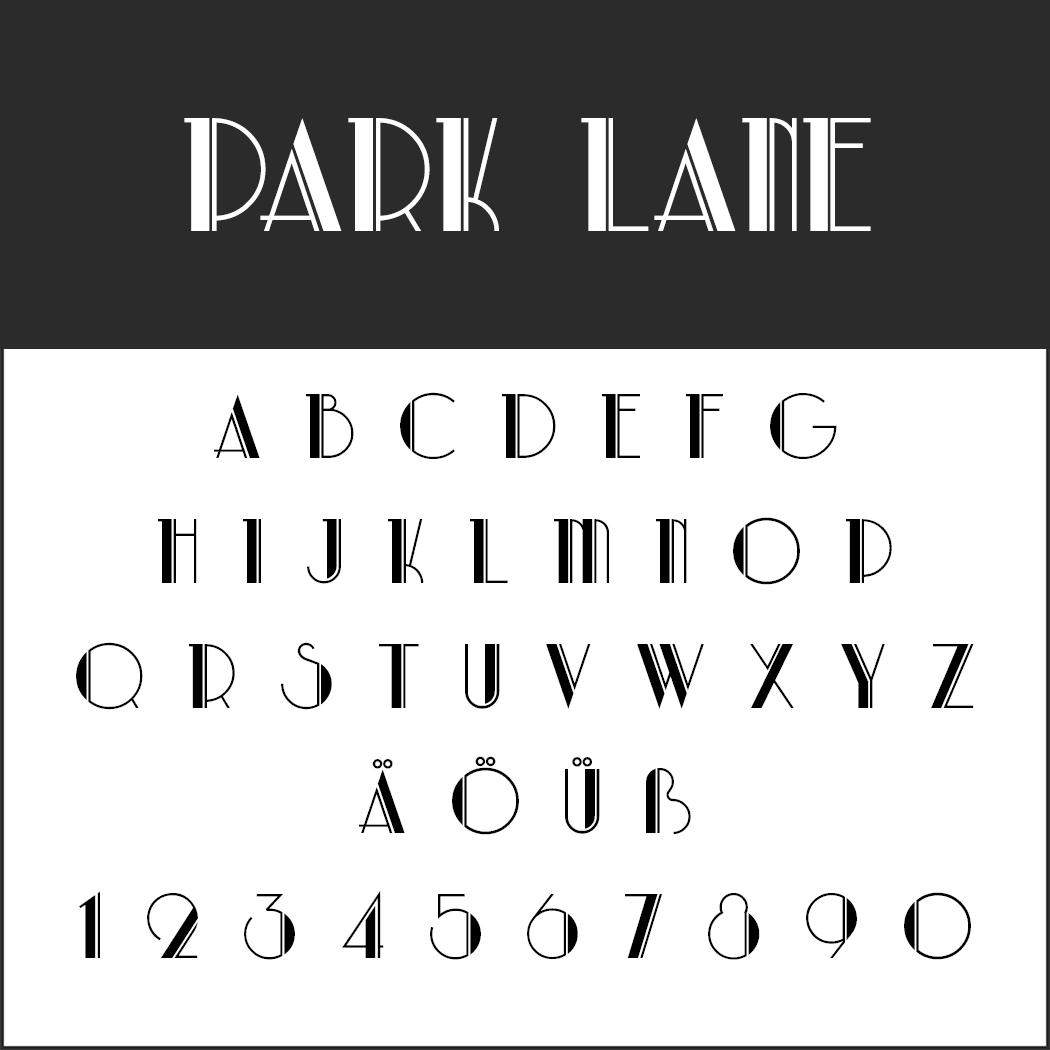 Vintage Fonts - 20er Jahre - Park Lane