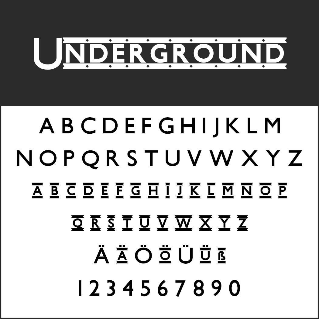 Vintage Fonts - 20er Jahre - Underground
