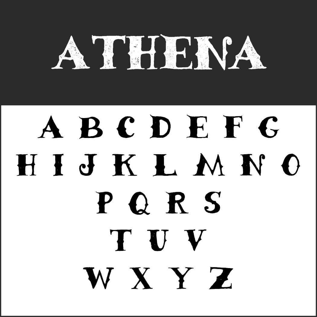 Vintage Fonts - 50er Jahre - Athena