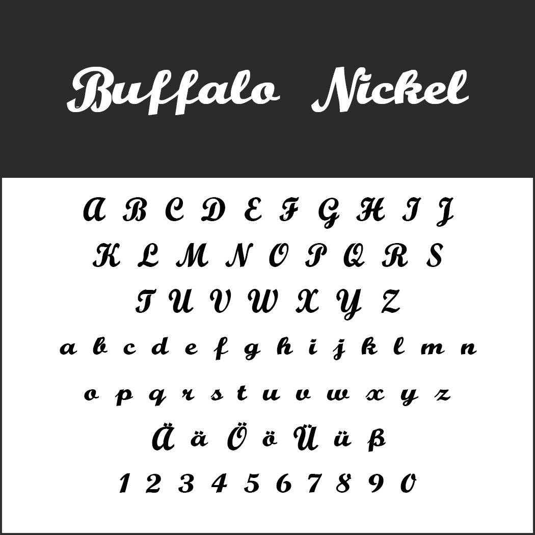 Vintage Fonts - 50er Jahre - Buffalo Nickel