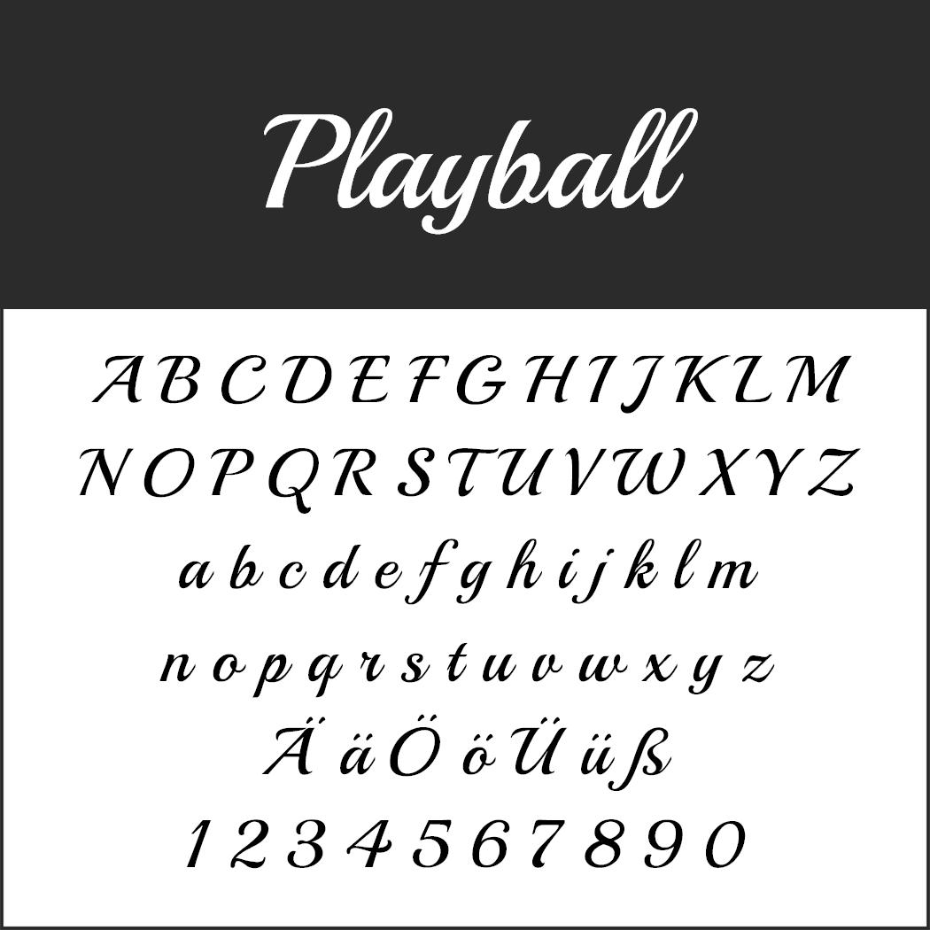 Vintage Fonts - 50er Jahre - Playball