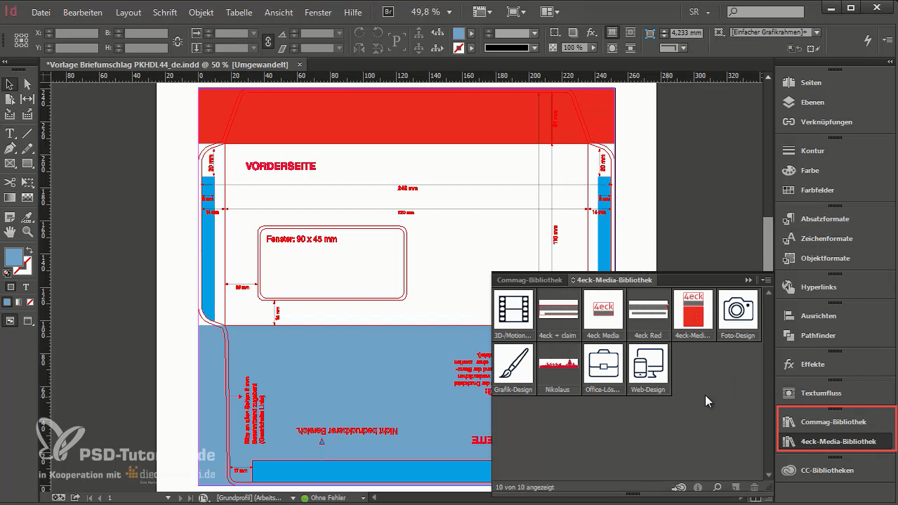 Bibliotheken in InDesign nutzen