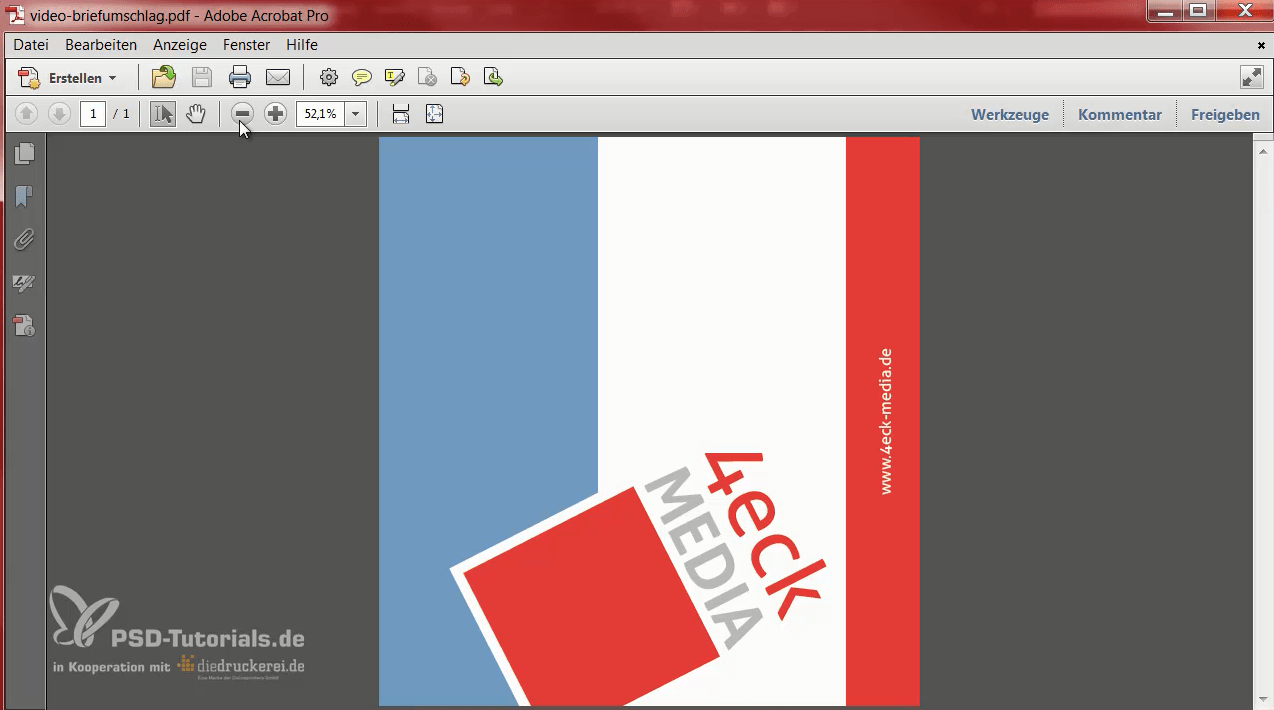 So sieht das für den Export fertige PDF aus.