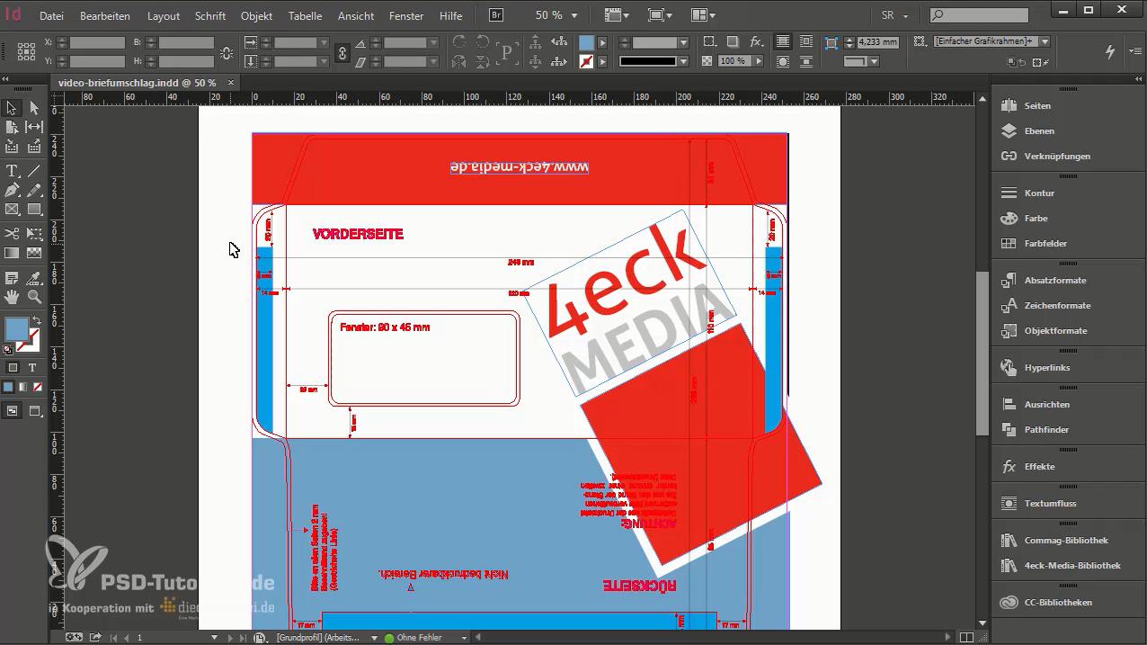 Das PDF ist fertig exportiert und kann an die Druckerei übermittelt werden.