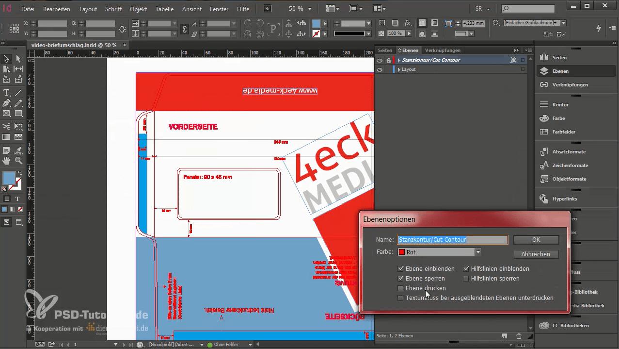 Das PDF soll ohne Stanzkontur angezeigt werden.