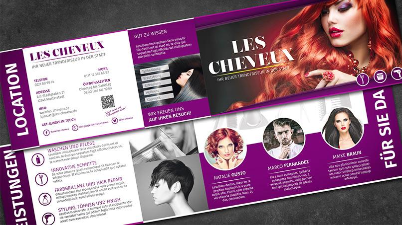 InDesign-Tutorial: Klappkarte für einen Friseursalon