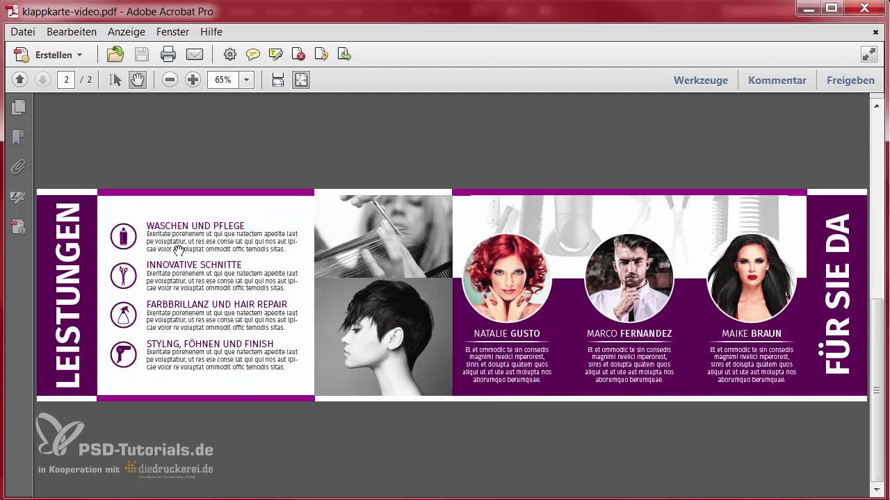 InDesign-Tutorial: Ansicht des Designs als PDF - Innenseiten