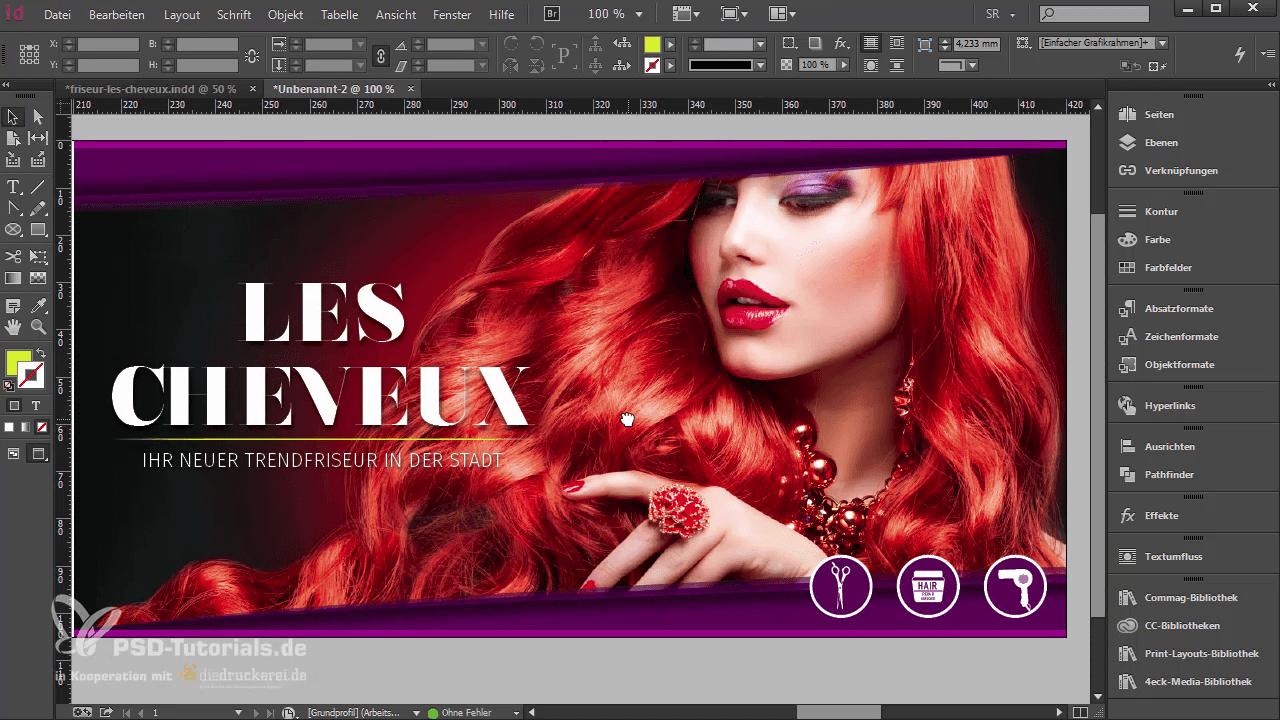 InDesign-Tutorial: Icons auf der Aufmacher-Seite der Klappkarte - Teil 2