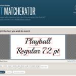 Fontspring's Font Matcherator - Analyse