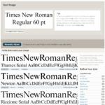 Fontspring's Font Matcherator - Ergebnis zu Times New Roman