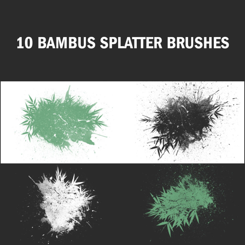 Die Bambus-Brushes lassen sich besonders spannend in ein natürliches Design einbauen.