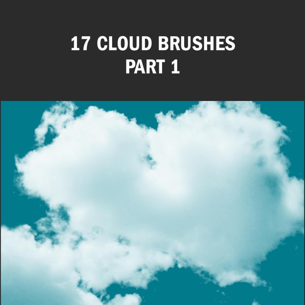 Eine besonders große Auswahl an hochauflösenden Brushes bringt dieses Wolken-Pinsel-Set mit.