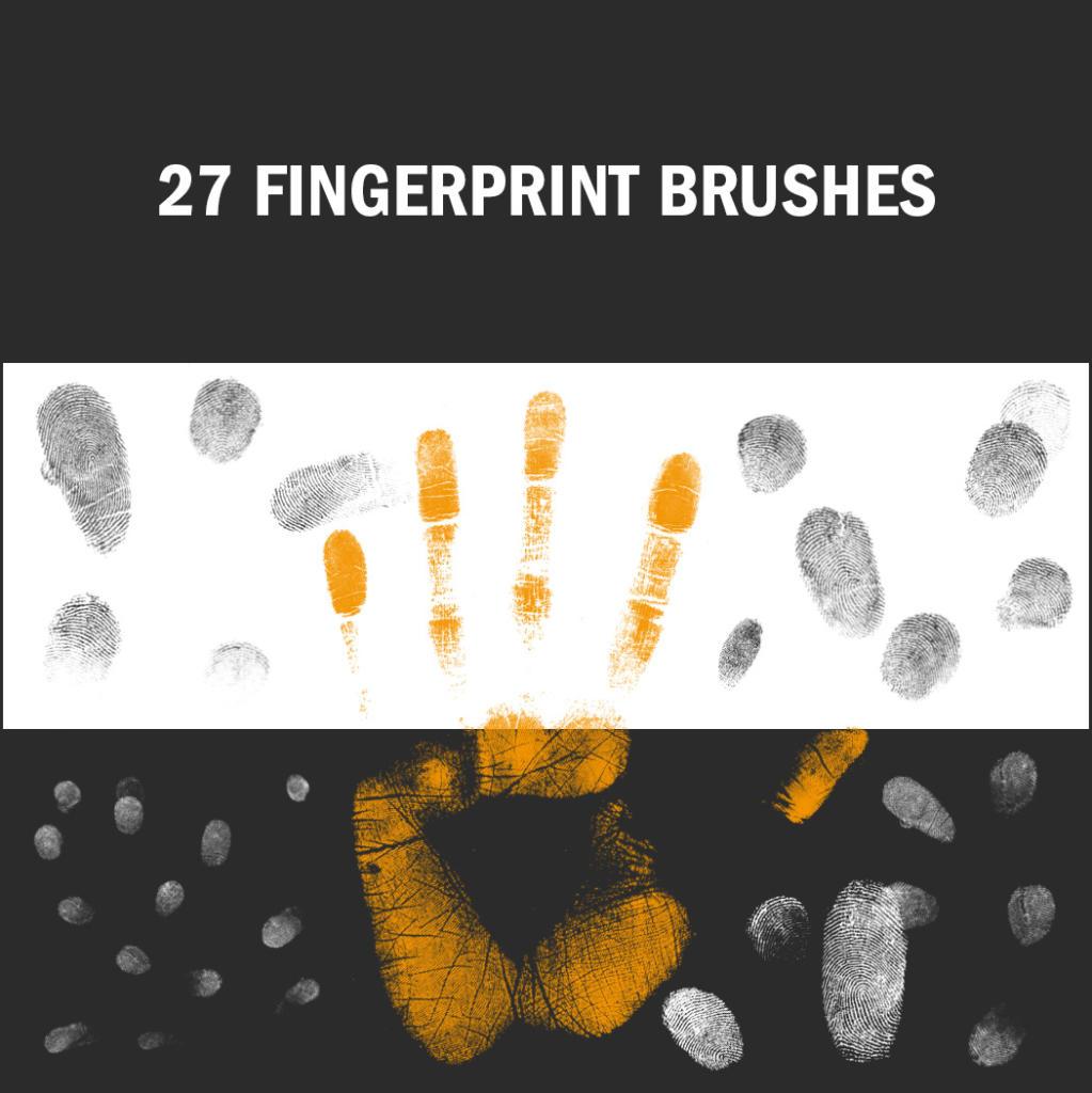 Diese Fingerabdruck-Brushes gibt es jeweils in drei verschiedenen Größen.