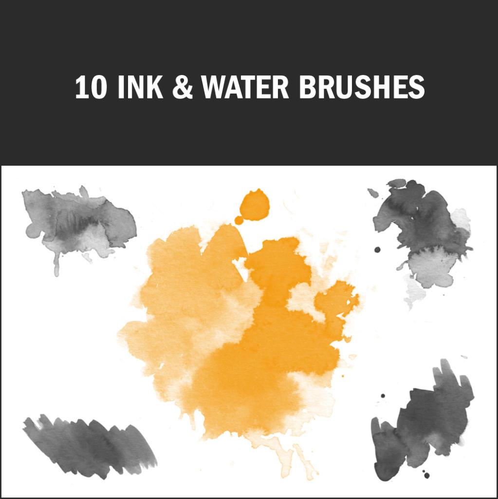 Tinte und Wasser ergeben tolle Aquarell-Effekte.