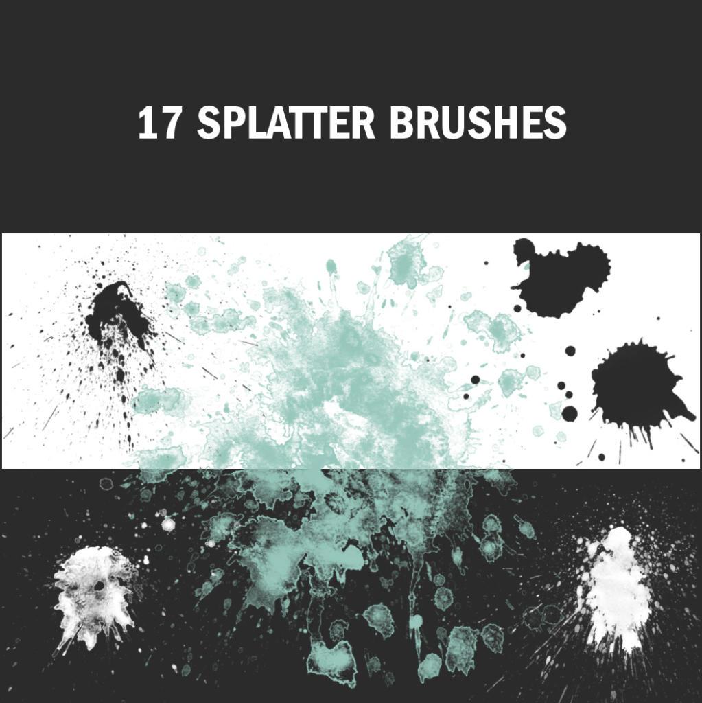 Farbklekse verschiedener Art bietet dieses Brush-Paket.