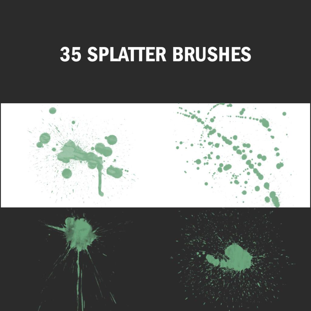 Diese Pinsel-Vorgaben erinnern an den abstrakten Expressionisten Jackson Pollock.