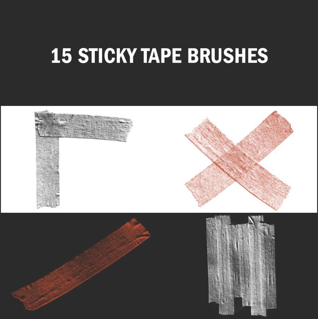 Sticky Tape Brushes sind hoch im Trend und lassen sich variabel einsetzen.
