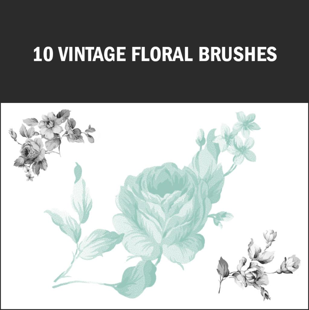 Dieses Brush-Set erinnert an alte Porzellanmalereien.