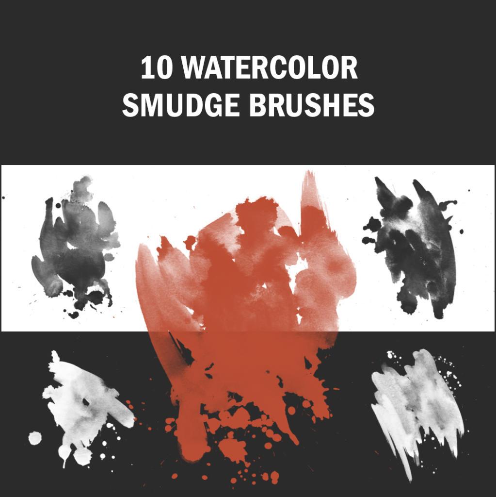 Klekse und Wasserfarben sind eine tolle Kombination, das perfekte Brush-Set für Ihre Photoshop-Pinsel-Palette!