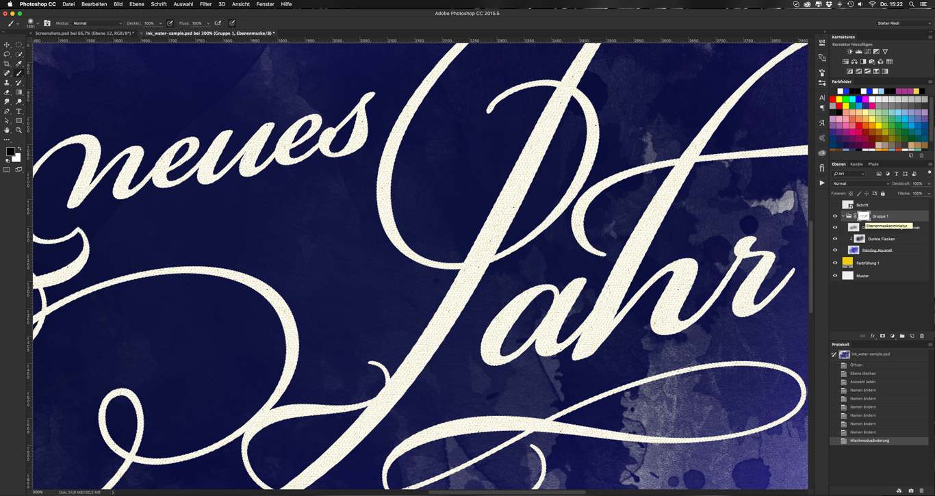 Photoshop-Tutorial: Water and Ink Brush und Watercolor Smudge Brush