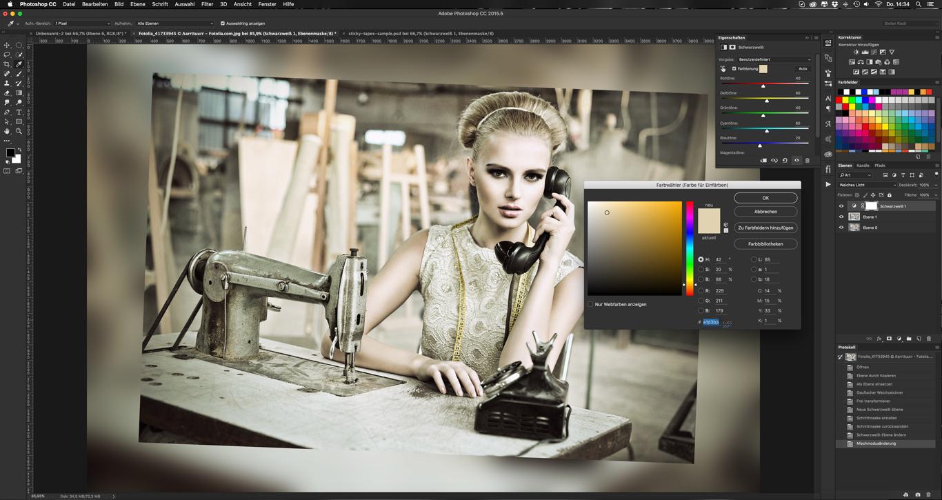 Photoshop-Tutorial: Sticky Tape Brush