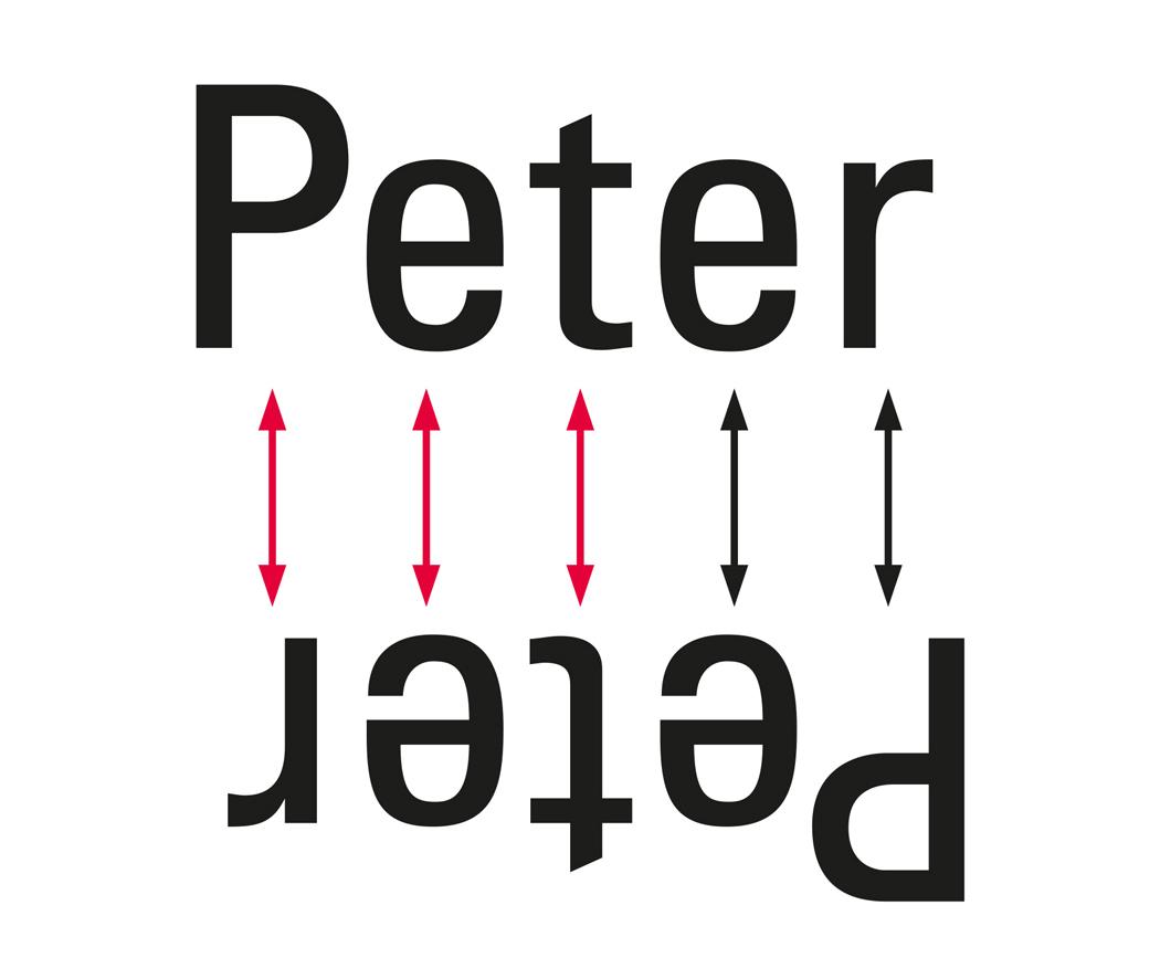 Ambigramm Design Tutorial, Schritt 1, gleiche und unterschiedliche Buchstaben