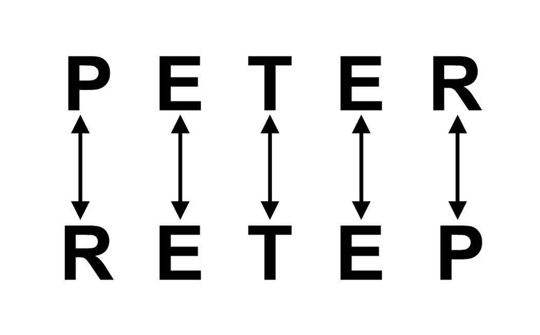Ambigramm Design Tutorial, Schritt 1