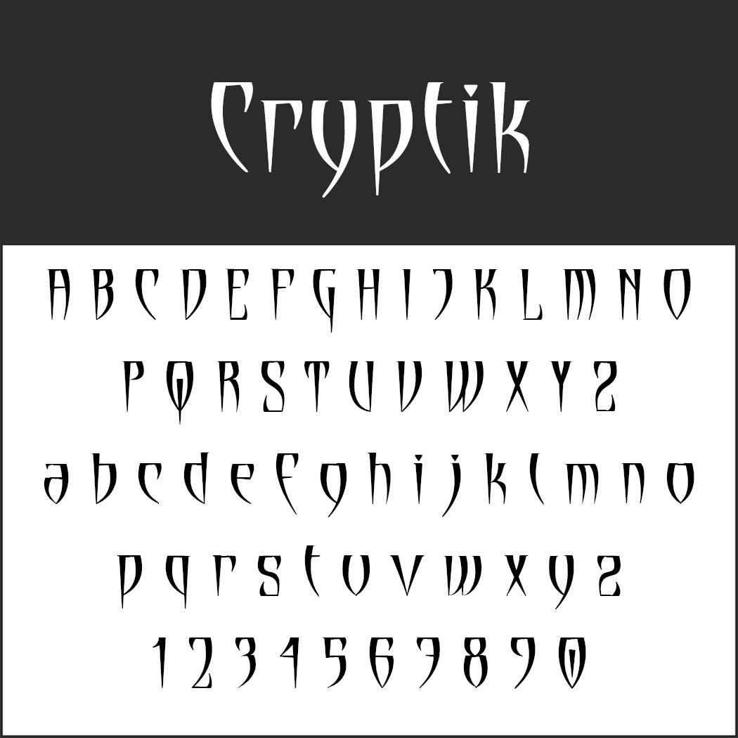 Halloween-Schrift: Cryptik
